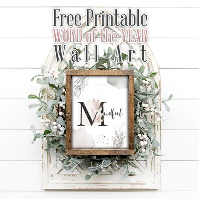 Free Printable Word of the Year Wall Art