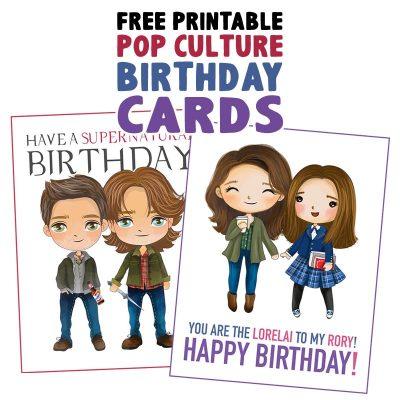 Free Printable Pop Culture Birthday Cards