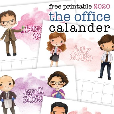 Free Printable 2020 The Office Calendar
