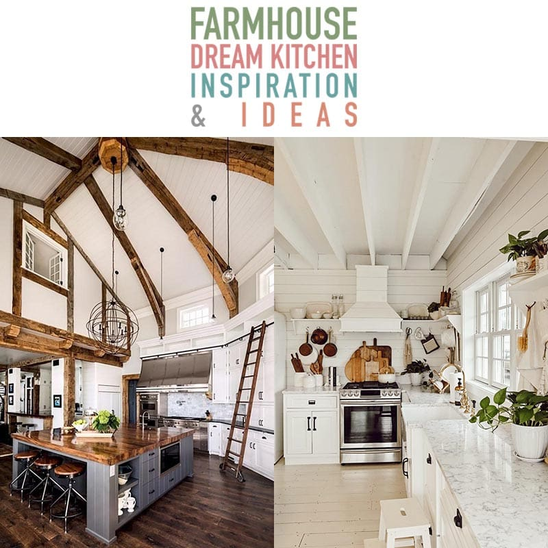 These Farmhouse Dream Kitchen Inspiration and Ideas will have you swooning and thinking about little changes you can make in your own space!