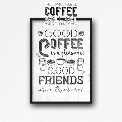 Free Printable Coffee Wall Art for Your Kitchen
