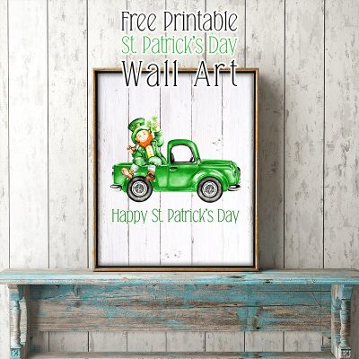 Free Printable St Patrick's Day Wall Art