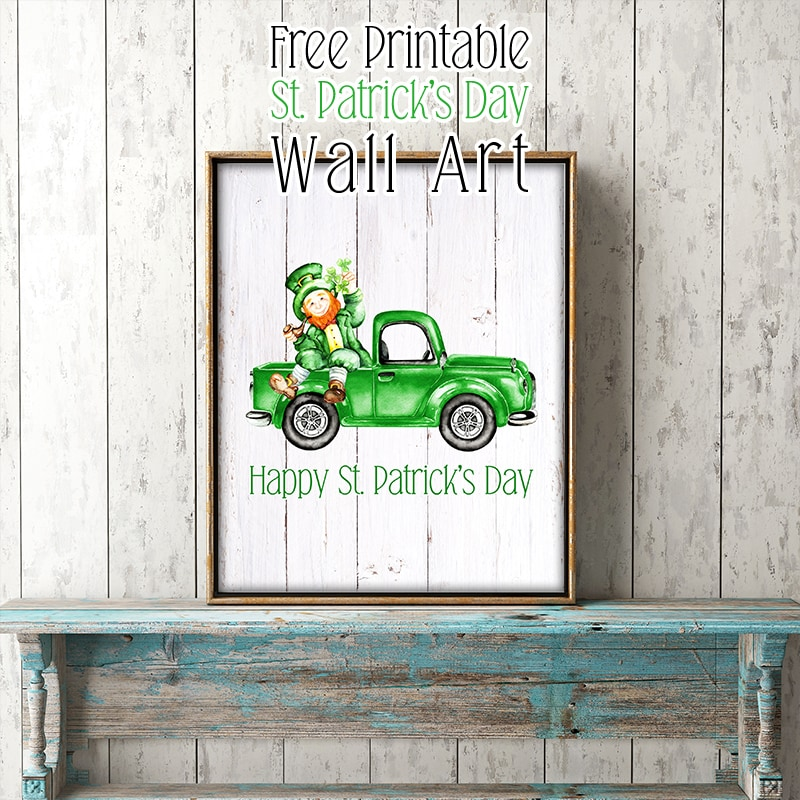 This Free Printable St. Patrick's Day Wall Art Creation will bring a touch of Magic to your space this Holiday for sure!  Maybe it will even have you do an Irish Jig!