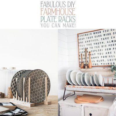 Fabulous DIY Farmhouse Plate Racks You Can Make