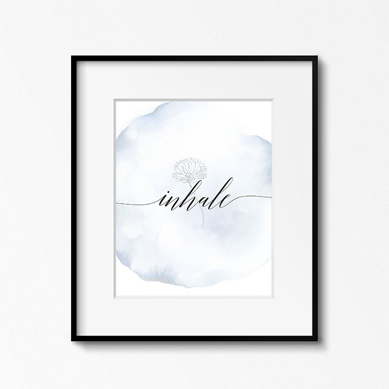 This Free Printable Inhale Exhale Collection is just what you need to bring a touch of tranquility into your life each day.  Place the set where you can see them often and remember to Inhale... Exhale!