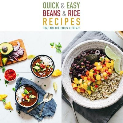 Quick and Easy Beans and Rice Recipes that are Delicious and Cheap!