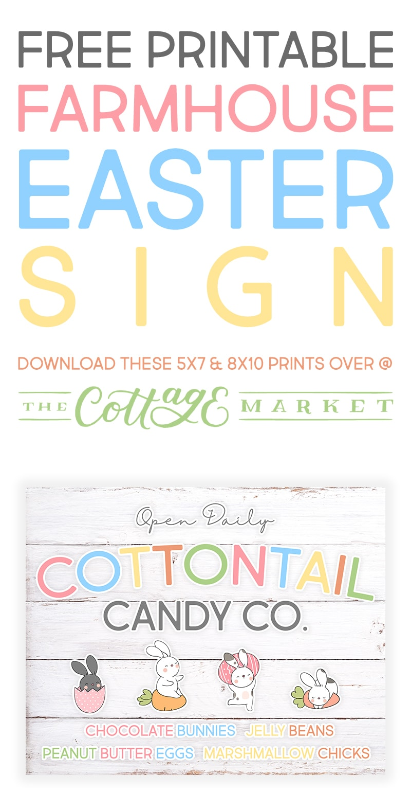 This Free Printable Farmhouse Easter Sign is just what you have been looking for!  It's a perfect piece to add to your Farmhouse Easter Decor plus it's FREE!