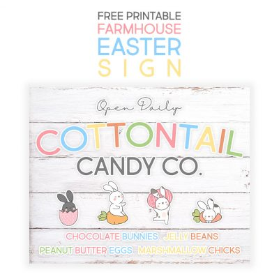 Free Printable Farmhouse Easter Sign