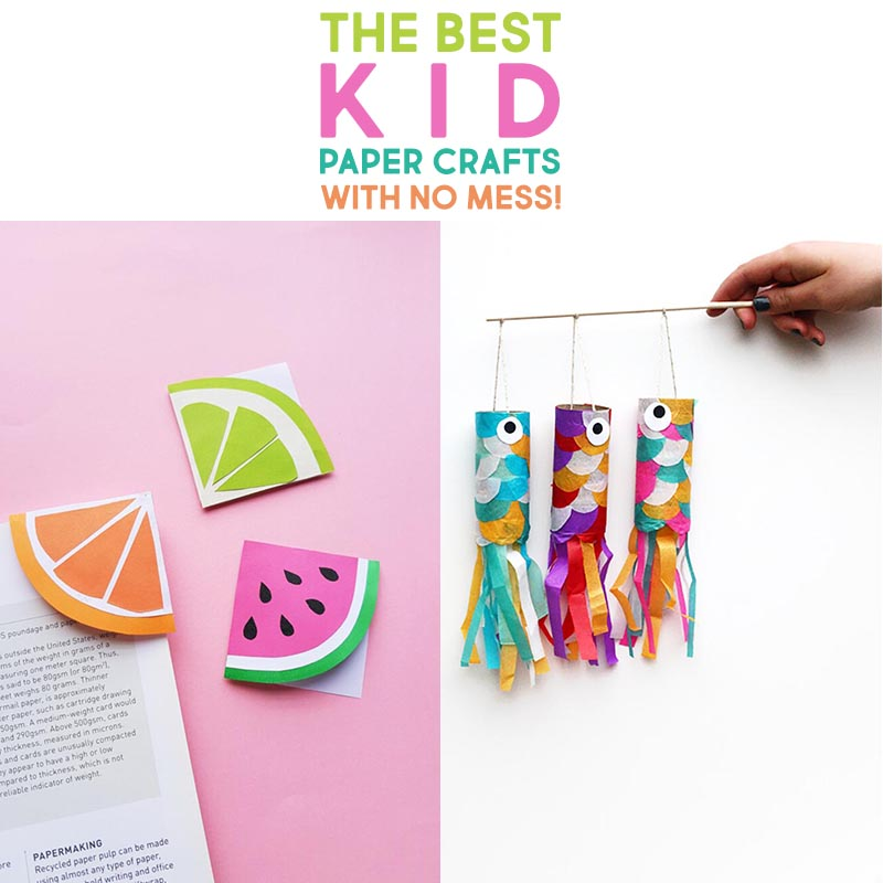 Today we have The Best No Mess Kid Paper Crafts out there!  They are adorable, easy to make, budget friendly and you most probably have just about all the supplies on hand!  All made with little or no mess!