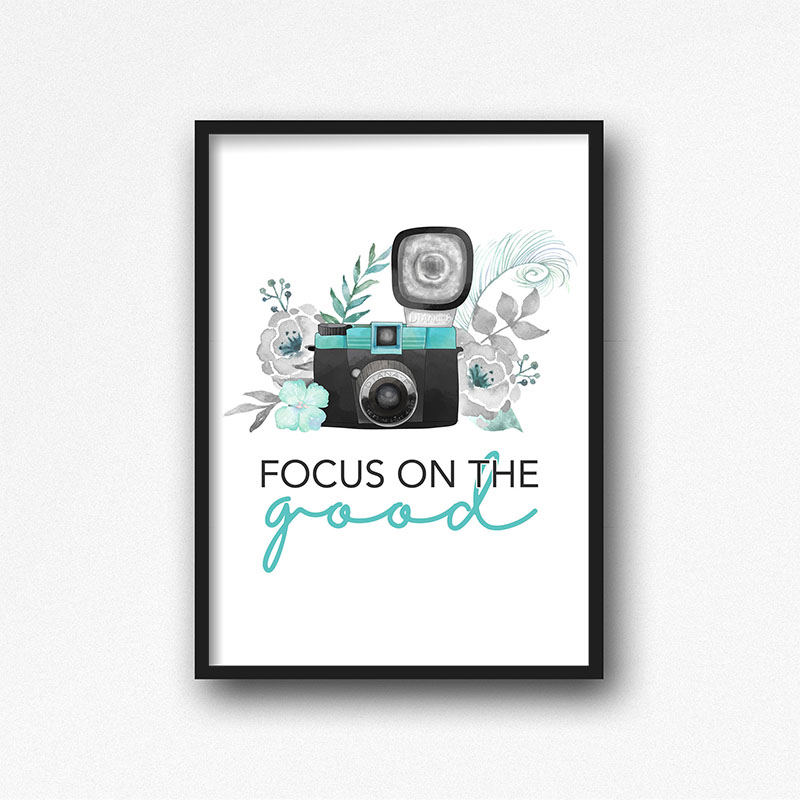 This Free Printable Focus on the Good Wall Art is just what we all need right now.  When there is so much happening in the world... it is truly helpful to Focus on the Good.