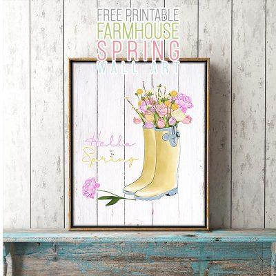 Free Printable Farmhouse Spring Wall Art