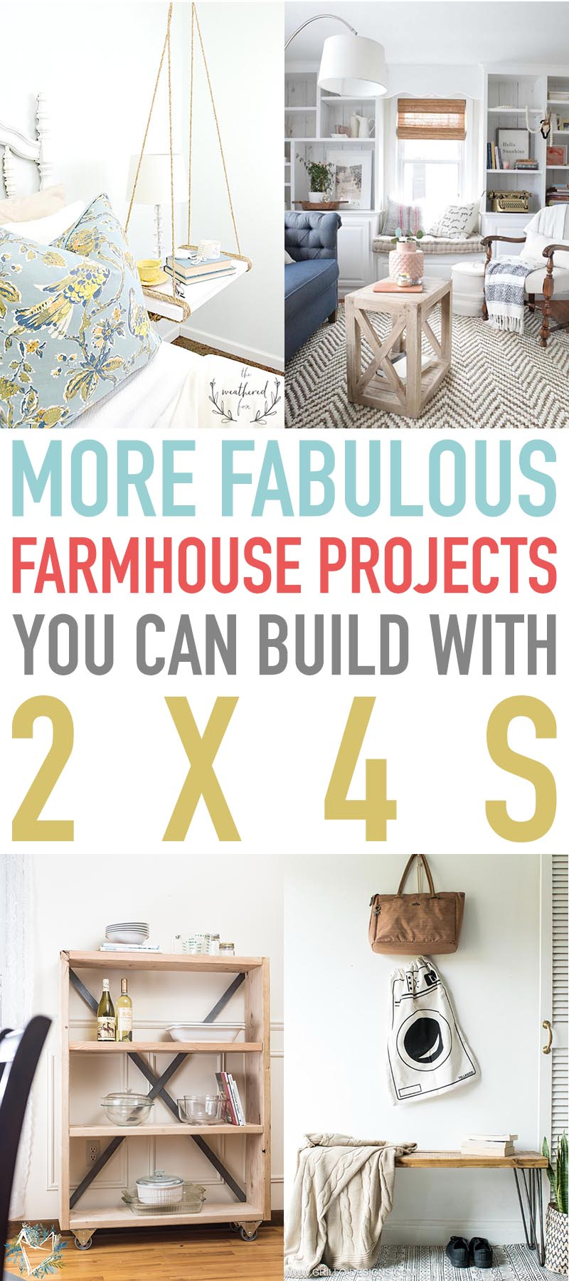 These Fabulous Farmhouse Projects You Can Build With 2X4's will keep you busy for a very long time! Quick, easy and not many supplies which is always a good thing!