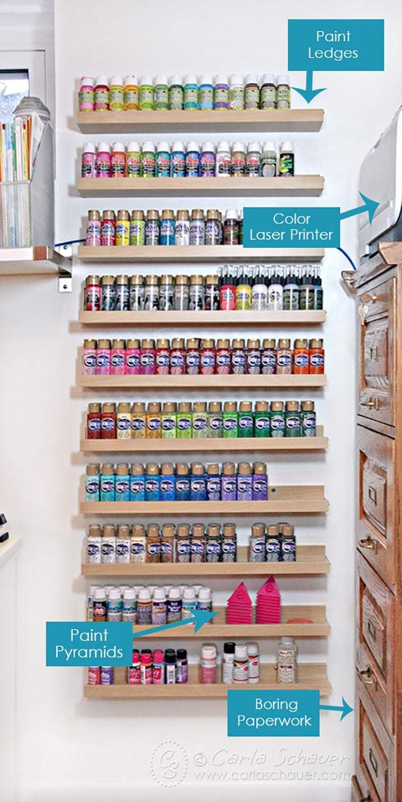 These Fun and Fabulous Craft Room Organization Hacks & Ideas are going to totally inspire you to get in your Craft Room and give it a little flair!