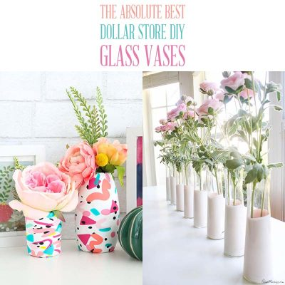 The Absolute Best Dollar Store DIY Glass Vases