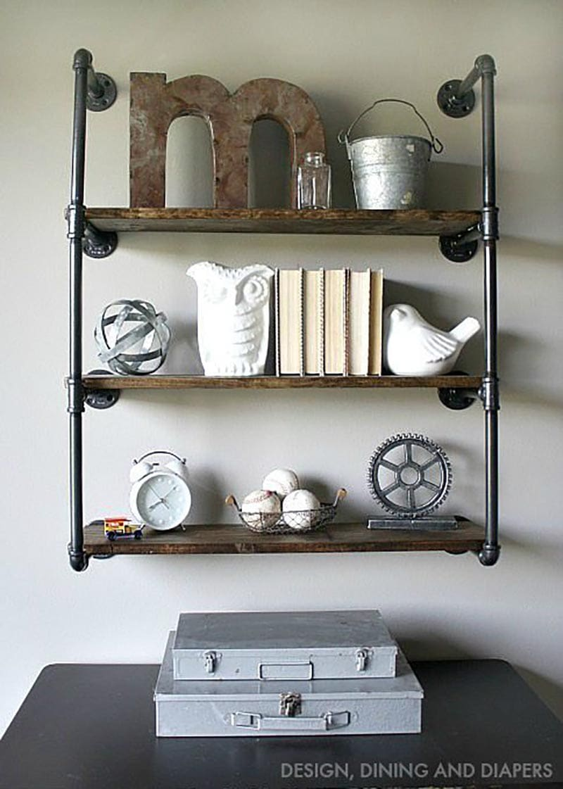 These Farmhouse Industrial Pipe DIYS have so much style and they are rather simple to create!  With just a few supplies and tools any one of these home decor creations can be yours within hours!