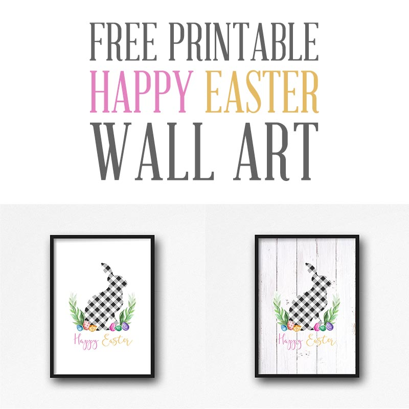 This Free Printable Happy Easter Wall Art will look amazing on your Gallery Wall or as part of an Easter Vignette or just about any place you want to add a smile!