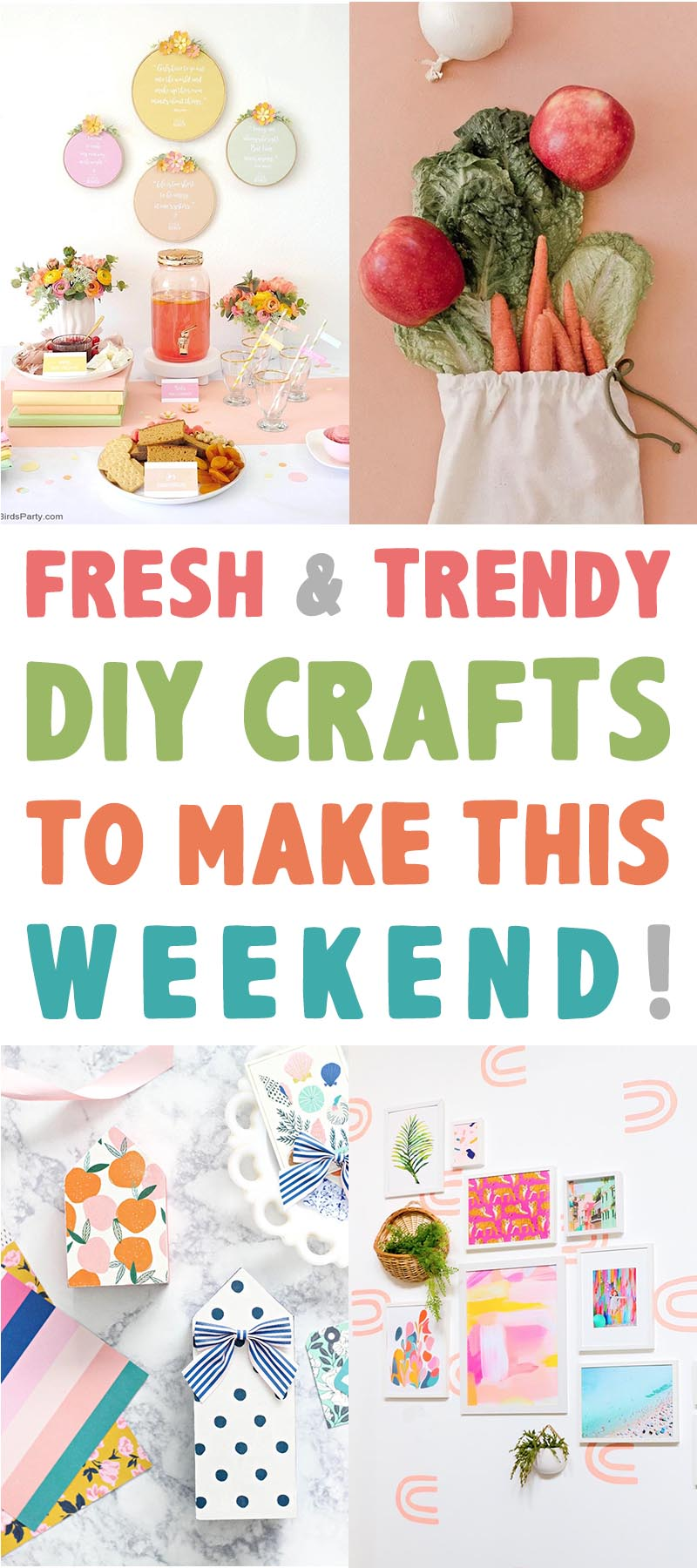 Time for some Fresh and Trendy DIY Crafts To Make This Weekend. So many inspirational Crafts are waiting for you to choose from!