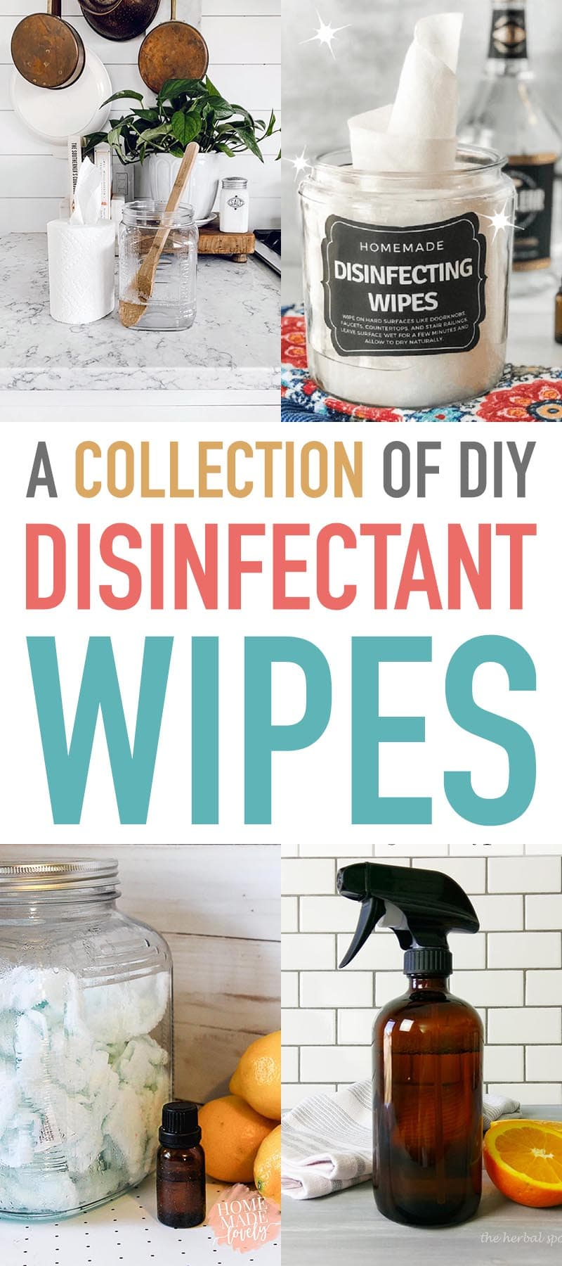 This Collection of DIY Disinfectant Wipes will help you keep all those important areas of the home and car clean and germ free.  They will help stop the spread.