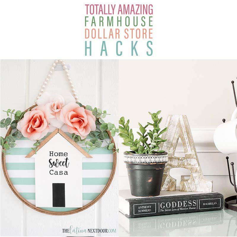 Totally Amazing Farmhouse Dollar Store Hacks continue to be featured here at The Cottage Market! I know you love them so please enjoy this newest collection