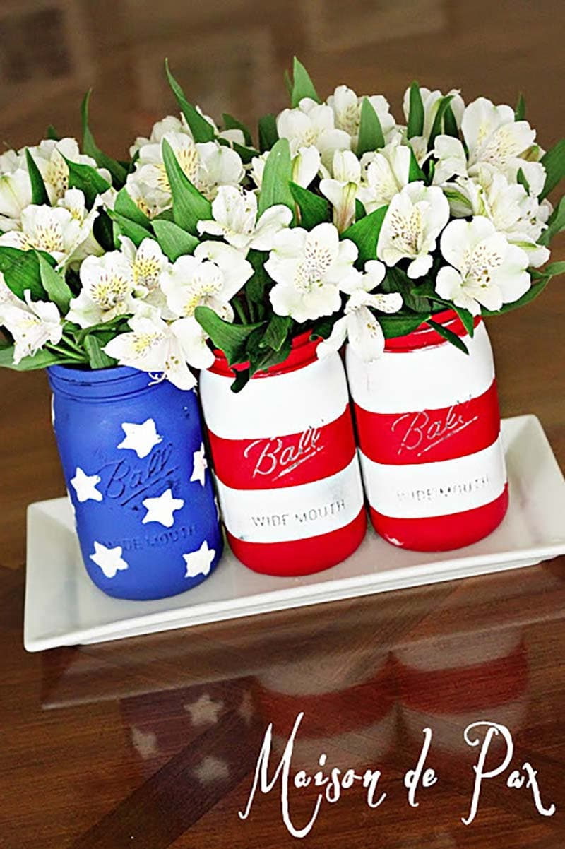 These DIY Patriotic Farmhouse Projects are picture perfect to decorate your home with Red White and Blue in Farmhouse Style! Wonderful for Memorial Day and the 4th of July and more!