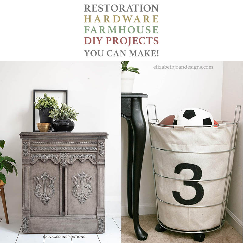 These Restoration Hardware Farmhouse DIY Projects are creations that you can truly make yourself! The DIYS will coast you straight through to an amazing finished piece