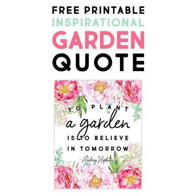Free Printable Inspirational Garden Quote