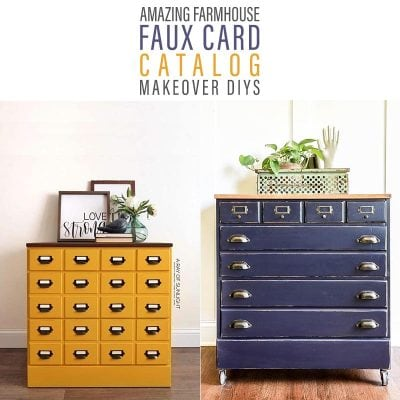 Amazing Farmhouse Faux Card Catalog Makeover DIYS