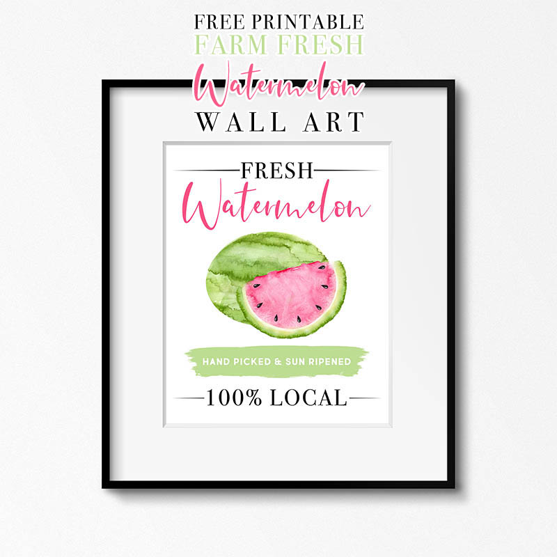 Today we have a Fun Piece for you... Free Printable Farm Fresh Watermelon Wall Art that will brighten your Kitchen Wall or add a ton of personality to your Gallery Wall