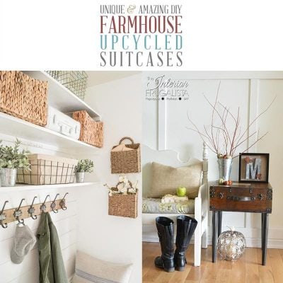 Unique and Amazing DIY Farmhouse Upcycled Suitcases