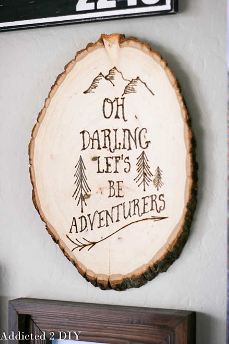 These Whimsical Wood Burning Ideas and DIYS are totally on trend right now and are perfect for that Rustic Farmhouse Look!