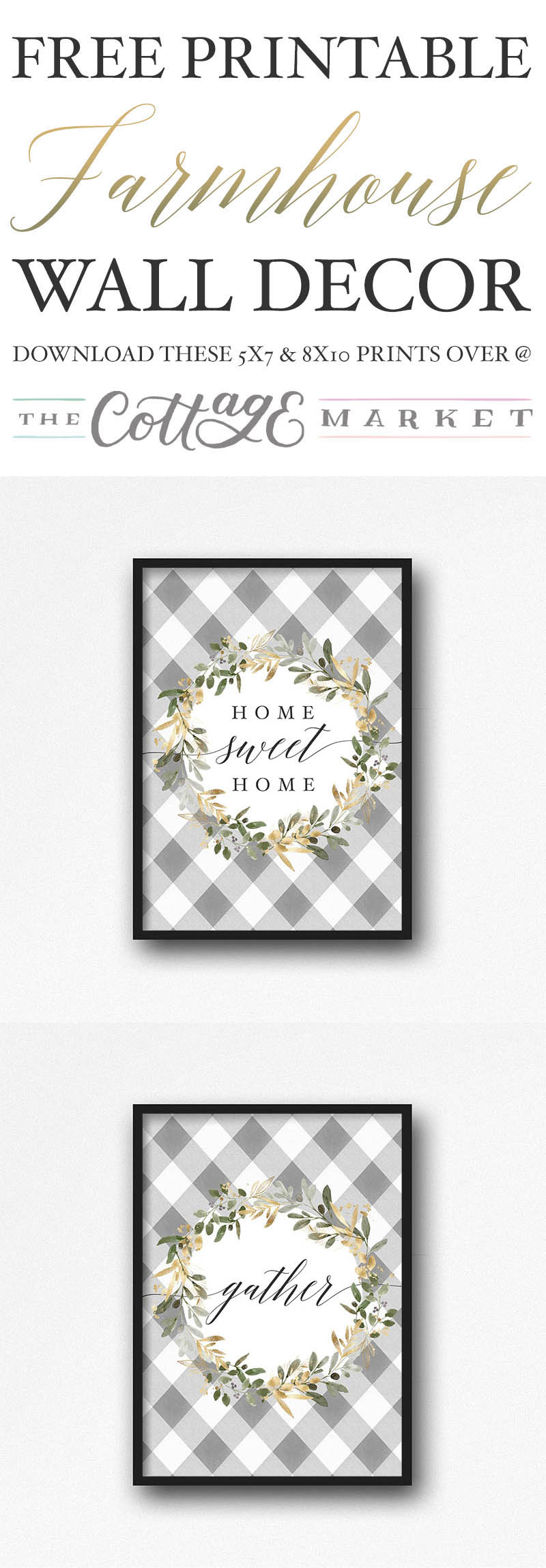 We have Free Printable Farmhouse Wall Decor for you today that will add a touch of Fresh Farmhouse Charm to any space you hang it in.  It's Wall Art for all Seasons.
