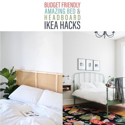 Budget Friendly Amazing Bed and Headboard IKEA Hacks