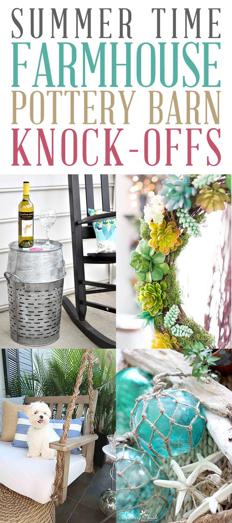 These Summer Farmhouse Pottery Barn Knock-Offs are sure to bring a gentle breeze of Summer Time freshness to your Home Decor