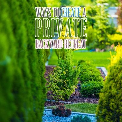 Ways to Create a Private Backyard Retreat