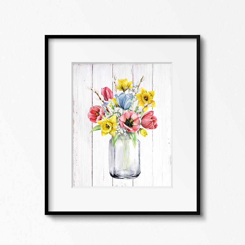 This Collection of Free Printable Farmhouse Watercolor Flower Art could be just what you have been looking for to add a pop of fun... freshness and color to your space!