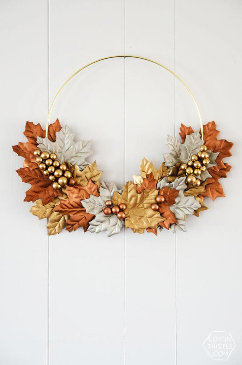 These 40 Fabulous Farmhouse Fall Wreath DIY Projects are going to fill your home with a gorgeous touch of the beautiful Season of Fall.