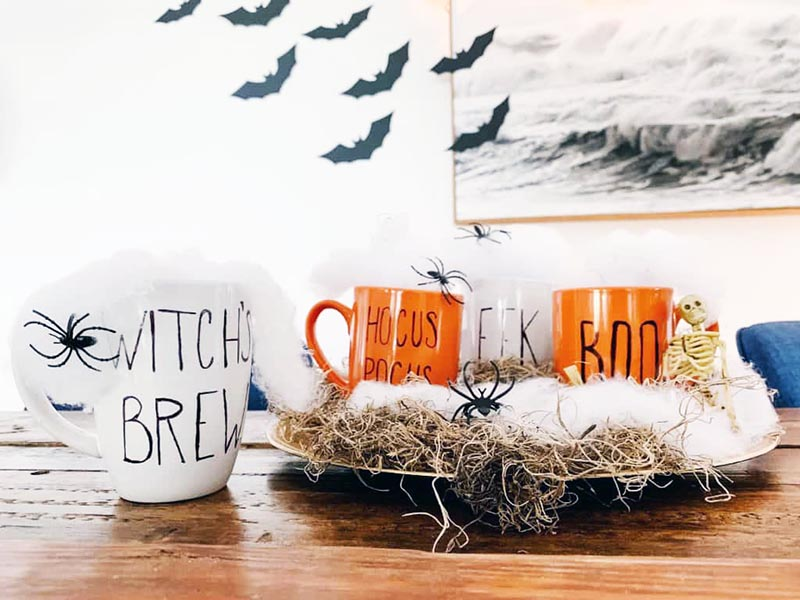 Halloween Dollar Store Hacks with Farmhouse Style could be just what you are looking for to add a touch of BOO to your home!