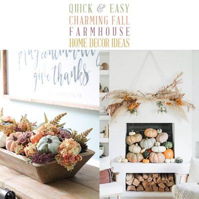 Quick & Easy Charming Fall Farmhouse Home Decor Ideas