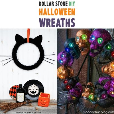 Dollar Store DIY Halloween Wreaths
