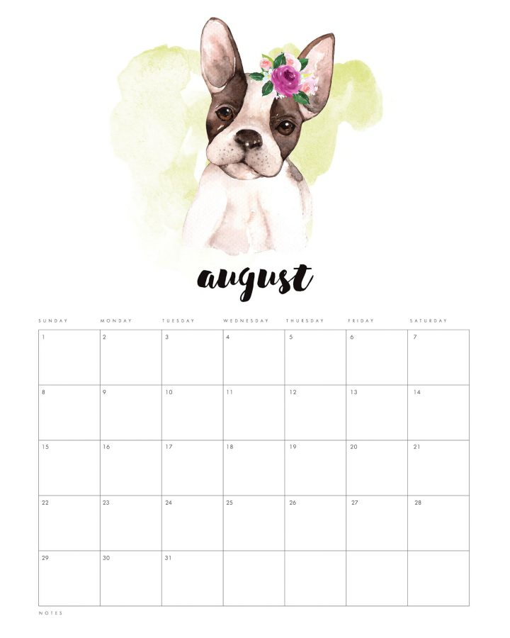 Come and get a head start on the new year with this Free Printable 2021 Watercolor Animal Calendar.  This Water Color Animal Calendar will get you organized early!