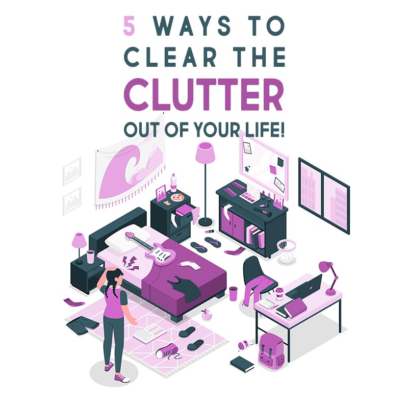 Today we are exploring 5 Simple Ways To Clear The Clutter Out Of Your Life, sometimes it is much easier than you think!  These suggestions are simple and easy to accomplish so why not give a few a try...especially all of you Crafters out there!
