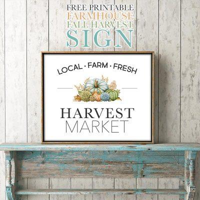 Free Printable Farmhouse Fall Harvest Sign