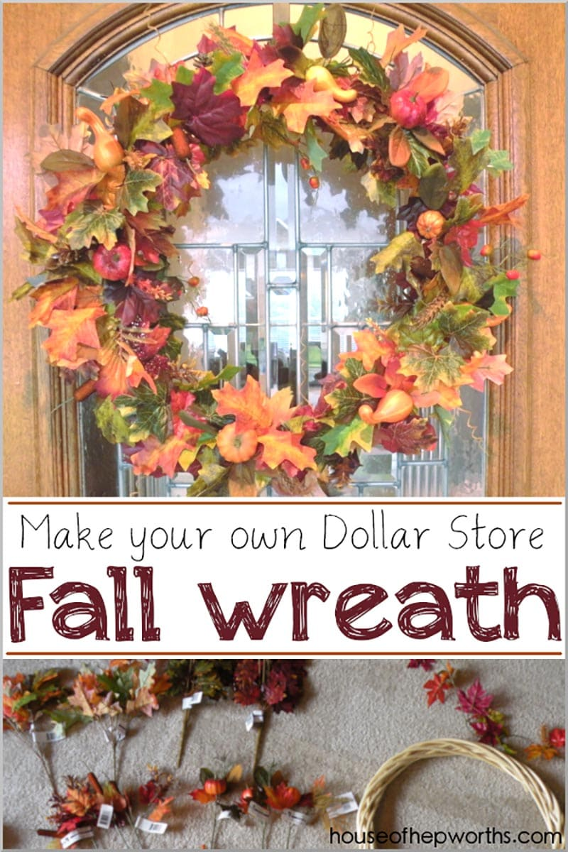 DIY Dollar Store Fall Wreaths are just what many of you have been looking for! These Fall Wreaths are extremely Budget Friendly and we can all use a bit of that right now!