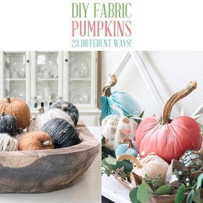 DIY Fabric Pumpkins 23 Different Ways!