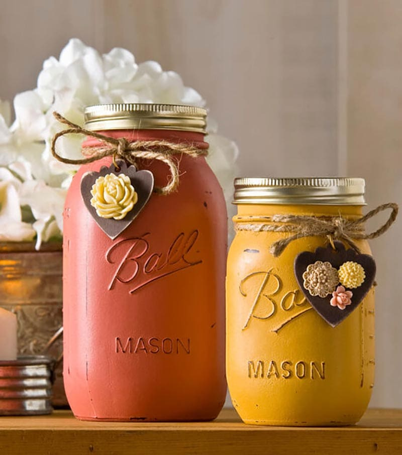 These Fall Mason Jar DIYS You Need To Make are so much fun and will add a ton of charm to your loving home. They are quick, easy and budget friendly... ENJOY!