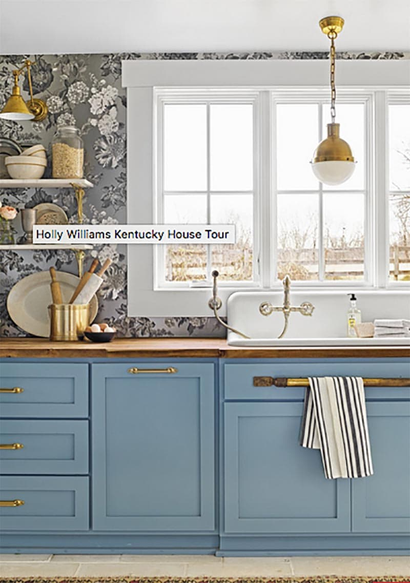 These expressive Kitchen Wallpaper Ideas just might inspire you to add a touch of whimsy, drama, fun, pop of color, elegance and more to one of your favorite Kitchen spaces.