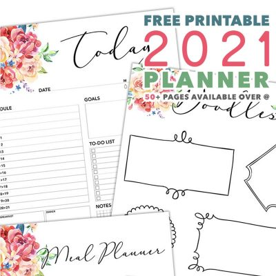Free Printable 2021 Planner 50 Plus Printable Pages!!!