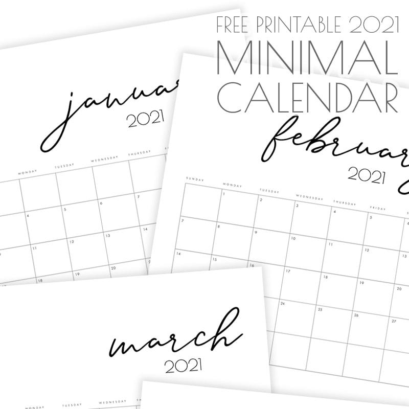 Printable 5 By 8 2021 Calendar / Diy Mini 2021 Photo ...