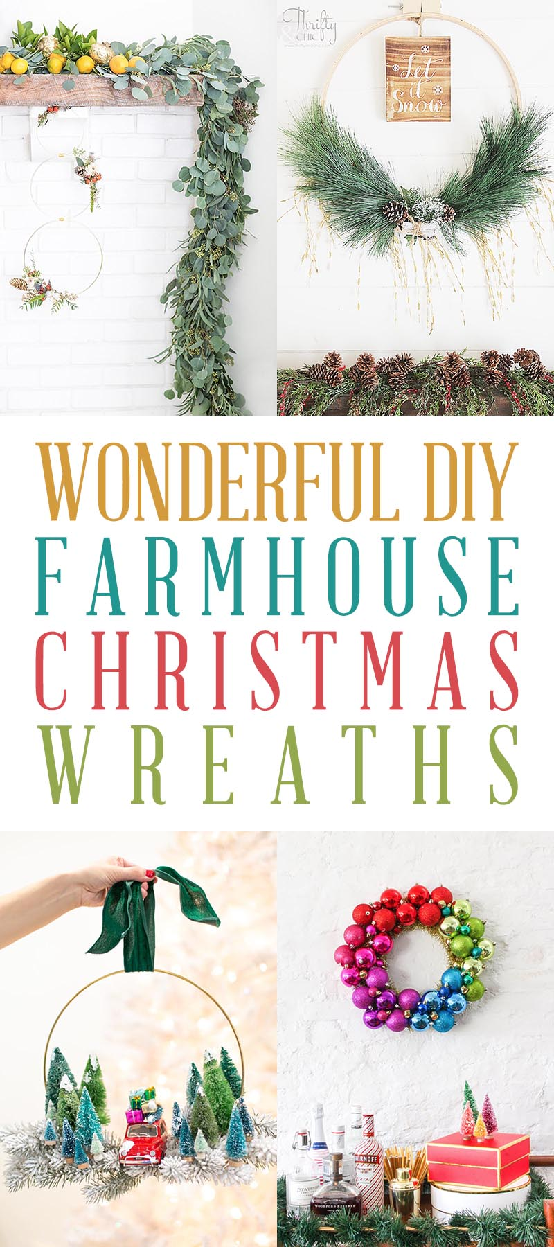 DIY Farmhouse Christmas Wreath T 2