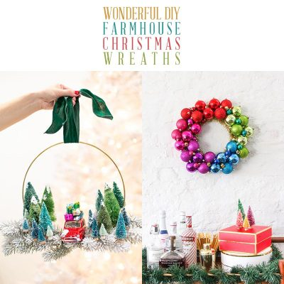 Wonderful DIY Farmhouse Christmas Wreaths